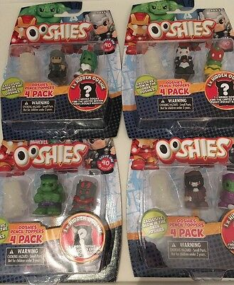 16 Marvel Ooshies Pencil Toppers - 4 Pack X4 Job Lot Series 1. Ant Man Iron Man