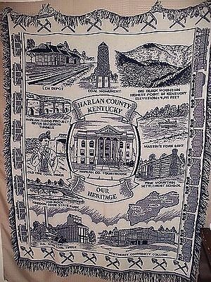 RARE FIND Harlan County State Of Kentucky Scenic Wall decor / Tapestry / Throw