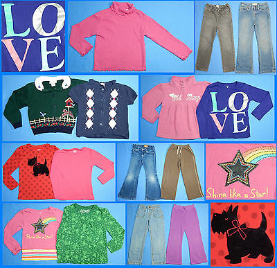 15 Pc. Lot Nice Clean Girls Size 5T 5 Fall School Winter Everyday Clothes FW192