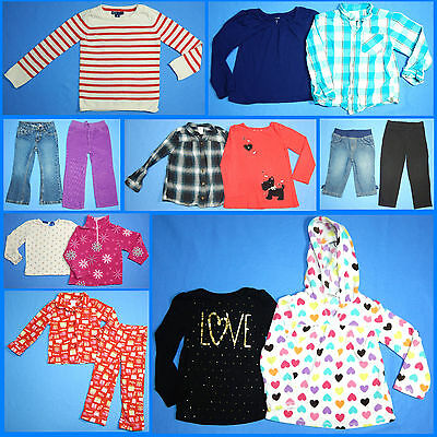 15 Pc. Lot Nice Clean Girls Size 4T 4 Fall School Winter Everyday Clothes FW187