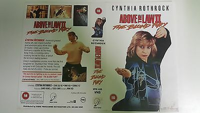 ABOVE THE LAW 2 Video Promo Sample Sleeve/Cover KUNG FU CYNTHIA ROTHROCK