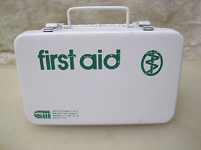Vintage Metal Cabinet First Aid Kit With Contents A5771