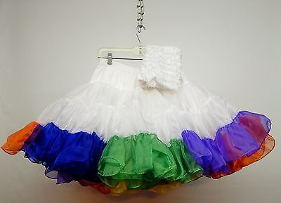 New Year Clearance!! 85 Yd Crystal Organza Multi Colored Square Dance Petticoat