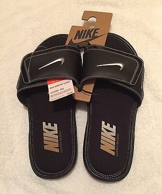 Nike Men's Comfort Slide 2 Sport Slides Sandals Flip Flops Brand New Black
