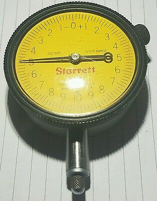 Starrett Metric Dial Indicator No. 25-161, works perfectly