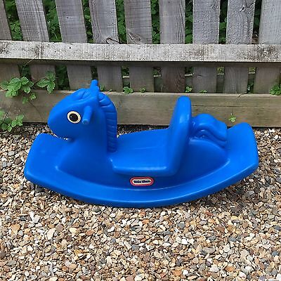 Little Tikes Blue Plastic Rocking Horse