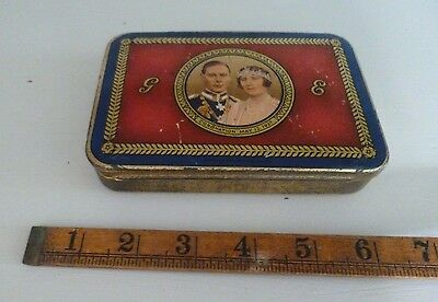 RARE 12th MAY 1937 CORONATION TIN GEORGE VI PRESENTED BY GLASGOW CORPORATION