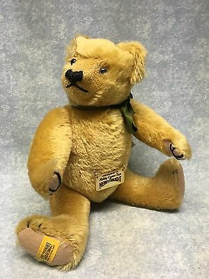 "Merrythought Teddy Bear Fully Jointed 15"" tall England Mohair"