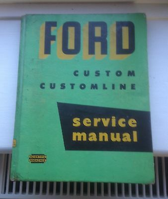 A used Ford Custom & Customline service manual 1952-54 hotrod ratrod barn find