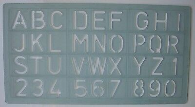 Lettering stencil template for 20mm high letters