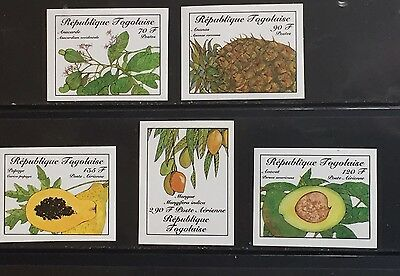 Togolaise #1366-70 Food MNH Imperf