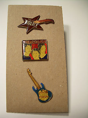 The Police Vintage Pins from the 80's