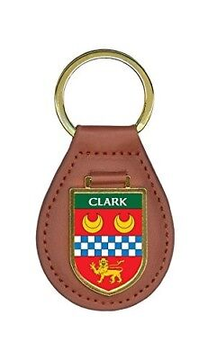 Clark Family Crest Coat of Arms Lot of 1 Total Key Chains