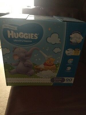 Huggies® Crawler Nappies For Boys 6-11Kg 90 Ultra Dry Nappies