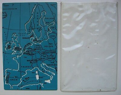 Helix template of western Europe at 1:20,000,000 scale. In plastic sleeve