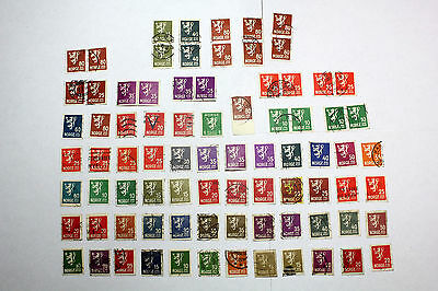 Lot of 68 Norway  Postal  Postage Stamps Lion Rampant  Collection    NORW007