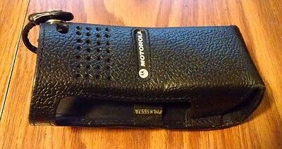 Genuine OEM Motorola PMLN5657A APX6000 Portable Radio Leather Carry Case Holster