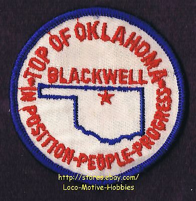 LMH Patch Badge TOP OF OKLAHOMA Position People Progress BLACKWELL Museum OK  3""