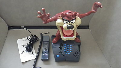 Tasmanian Devil Taz Mania Looney Tunes Animated House Home Phone - RARE