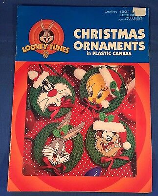 Looney Tunes Christmas Ornaments Plastic Canvas Pattern - Leaflet 1801