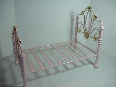 American Girl Doll Rebecca Rubin's Pink Metal Bed ~ EXCELLENT!