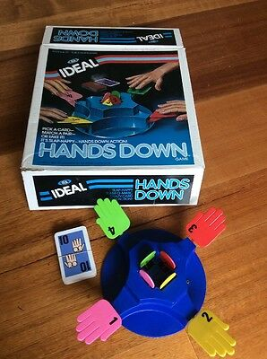 Vintage Hands Down Board Game by Ideal - Complete 1980's
