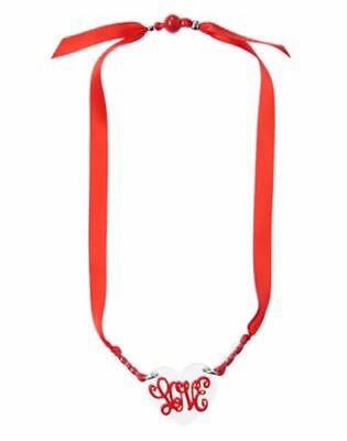 """Nwt Gymboree Valentine's Day Heart """"Love"""" Necklace One Size"""