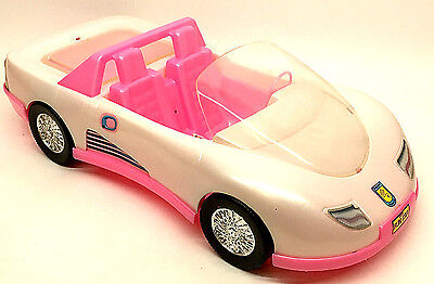 """Vintage Pink Sports Car for 12"""" Inch Doll Barbie Size Tim-Mee Toy USA"""
