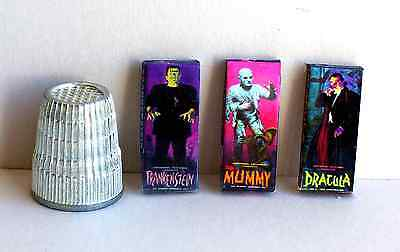 Dollhouse Miniature 1:12 Aurora Monster Model Box Set 1960s Dracula Frank Mummy