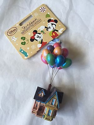 DISNEY STORE SKETCHBOOK ORNAMENT 2016 pixar UP house balloons ~in hand vhtf rare