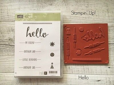 "Stampin' Up! RETIRED STAMP SET ""Hello"""