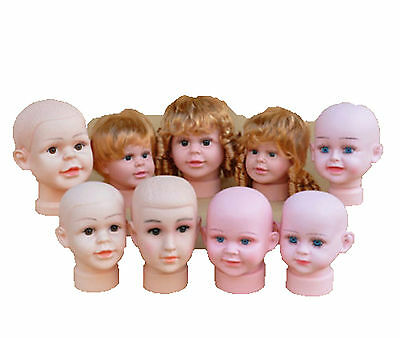 1pc New Baby Mannequins Head Display Hats Wig Mould Show Stand Model Cosmetology