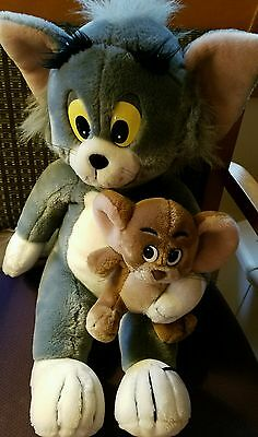 "Large Vintage Plush Tom Cat/ Jerry Mouse from Tom & Jerry 18"" by Presents 1980s"