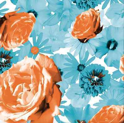 Scattered Flowers Gift Wrap Tissue Paper 10 Printed, Patterned Sheets