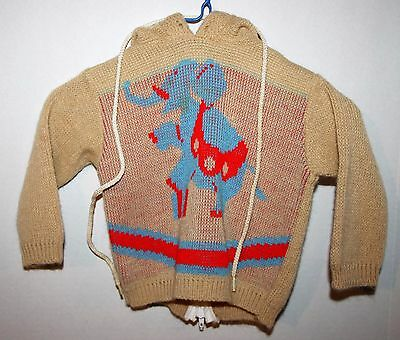 Vintage Dr. Denton's Brown Tan Acrylic Sweater Boys' Size 9 Months