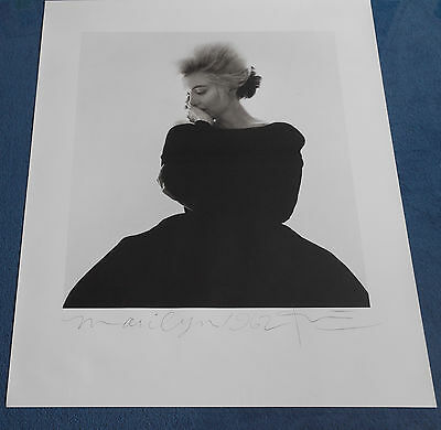 Marilyn Monroe Dior/vogue Large Photo Lithograph Hand Signed By Bert Stern