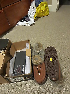 New Womens Manitobah Mukluks Journey Moccasin Vibram Size 8 Color Copper