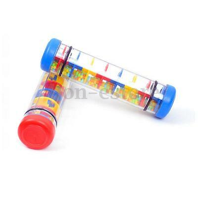 8'' Plactic Rain Stick Musical Toy For Baby Kids Auditory & Visual Fidget Shaker