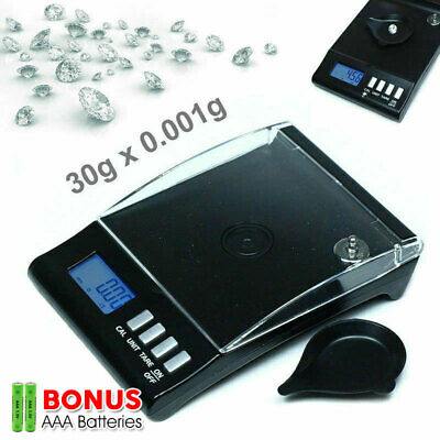 0.001g 30g High Precision Pocket Jewellery Scale Milligram Electronic Digital