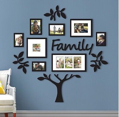 13 piece family tree set hallway photo wall collage frame picture frames decor