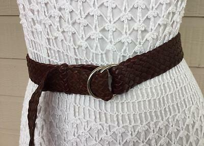 HANDCRAFTED BRAiDED SYRUP BROWN KANGAROO LEATHER RURAL DRESS BELT - M