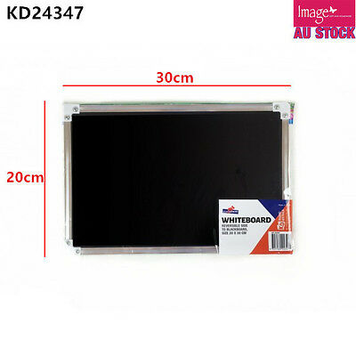 White Board Black Board Reversible Side Aluminum Frame 20x30cm KD24347