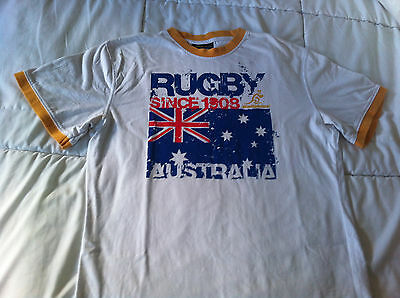 Wallabies Rugby White t-shirt -Small size made by Cooper