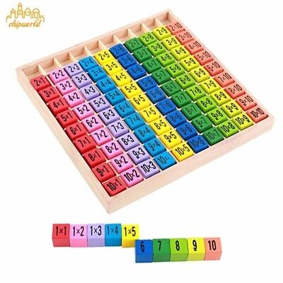 1PC Wooden Multiplication Table Early Teaching Puzzle Children Educational Toy