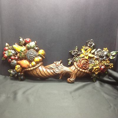 Syroco Fruit & Floral #5170 Colorful Wall Decor, Set of Two EC