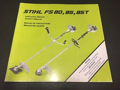 Stihl FS 75 80 85T Instruction / Owners Manual - NOS OEM ----C1