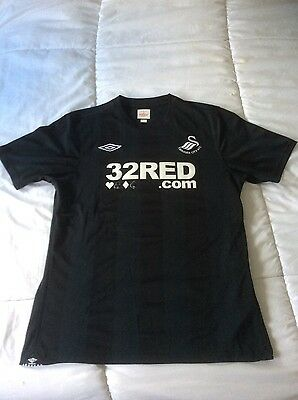 Swansea official jersey ,black , medium size , like new, by Umbro