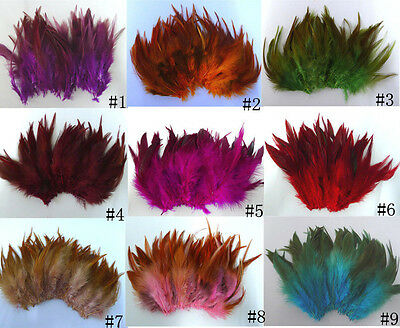 50-100pcs Beautiful Rooster Tail Feathers 5-7 inches/10-15cm Crafts 10 Colors