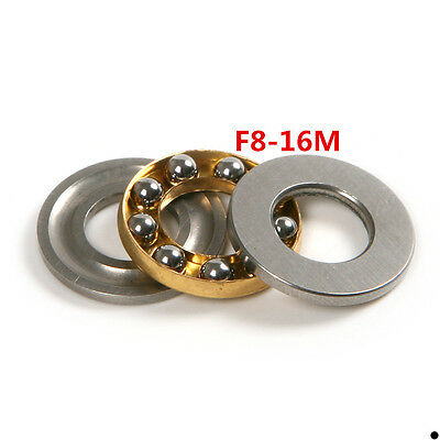 4pcs Miniature Flanged Axial Thrust Ball Pole Bearings F8-16M 8*16*5mm 3-Parts