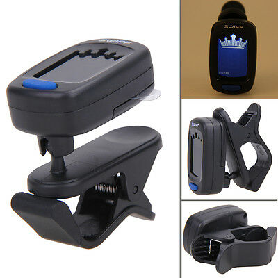Chromatic Clip-On Digital Tuner Plastic for Acoustic Electric Guitar Bass Violin